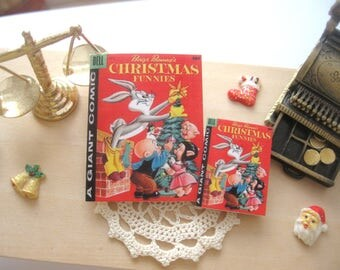 dollhouse comic christmas bugs bunny vintage inspired 12th scale or playscale lakeland artist