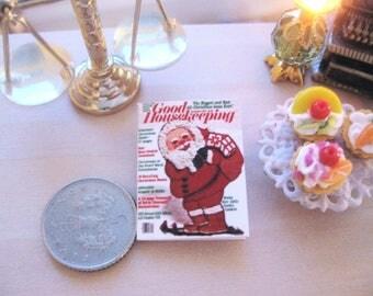 dollhouse christmas  magazine vintage good housekeeping 12th scale miniature Rainbowminiatures