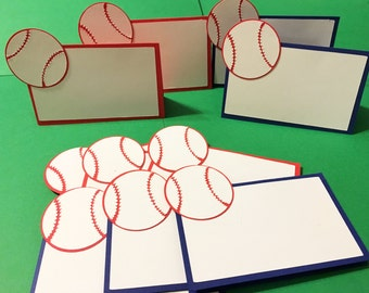 12 Baseball themed food cards, Baseball place cards, Sports party, Softball party