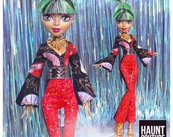 """Fairytale Doll Haunt Couture 2017 """"Fanned Pants"""" high fashion doll clothes dress"""