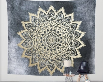 BOHO NIGHTS MANDALA Bohemian Wall Tapestry