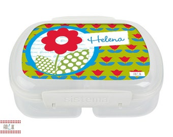 Lunch box with its own name and motif of your choice