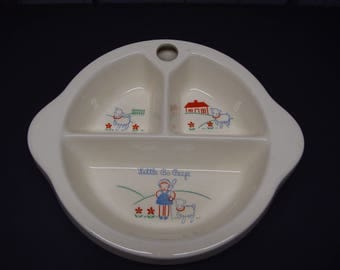 Excello Baby Dish, Little Bo Peep, Divided Warming Dish