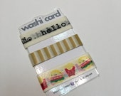 Washi Tape with Laminated Card - Decorative Tape - Washi Samples