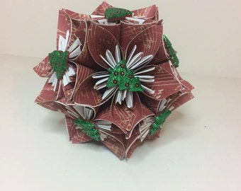 Small Kusudama Flower Ball Ornament (Trees V4)