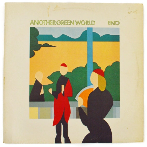 Vintage 70s Eno Another Green World UK Import Album Record Vinyl LP