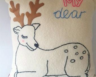 My dear embroidered cushion