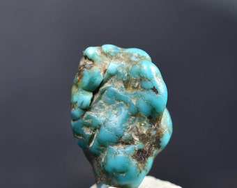 Turquoise nugget rough from the Kingman Mine