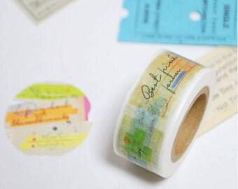 Sticky Notes Washi Tape - Kamito