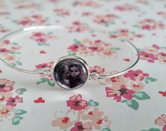 Photo Bracelet - Personalized - Bangle - Photo Jewelry