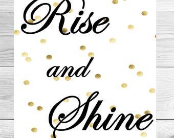 Rise and Shine inspirational printable artwork