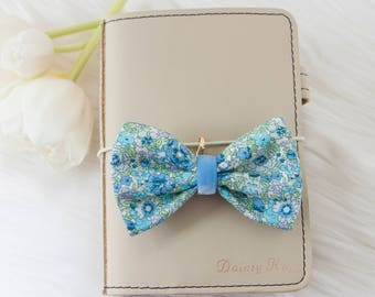 Liberty of London Fabric Bow in Amelie Blue