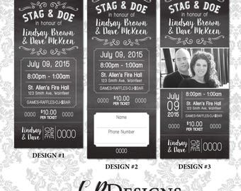 Stag and doe ticket etsy for Stag tickets template free