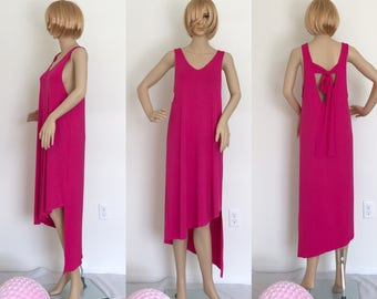 Unbalanced Length Midi Dress/M1026/Irene M