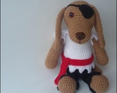Ready to Ship - Crocheted Pirate Puppy