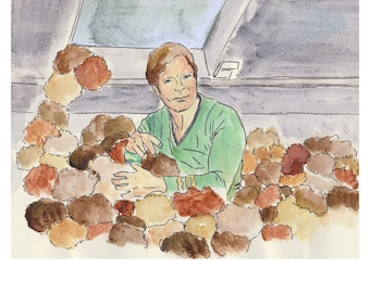 Star Trek Art Print Captain Kirk, The Trouble With Tribbles, I Want them off my ship.