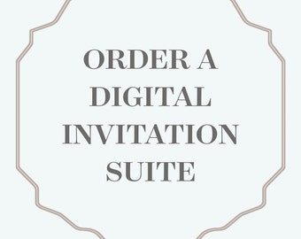 Printable Wedding Invitation Suite | Invitation, rsvp and details | fully customized
