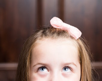 Sequin tuxedo bow headband, pink tuxedo headband, Nylon bow headband, Valentine tuxedo headband, pink bow headband, baby nylon headband
