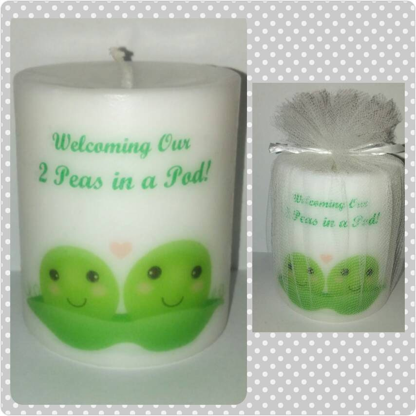 two peas in a pod baby shower twin baby shower favors baby