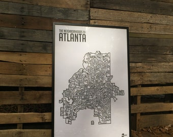 The Neighborhoods of Atlanta Print