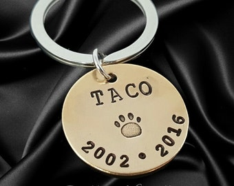 Pet Memorial Keychain - Pet Jewelry - Dog memorial Keychain - Personalized Dog Rememberance