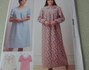 Kwik Sew 3747 Misses XS to XL Nightgowns
