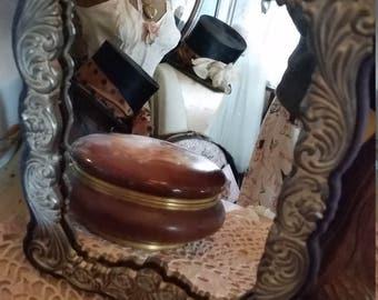 Vintage Silver Plate Mirror Vanity