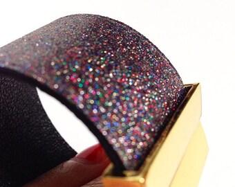 multicolored  leathercuff