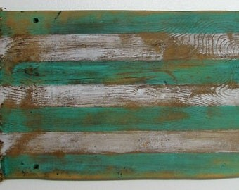 Barn Wood Coastal American Flag/Distressed Barn Wood Flag/Rustic Reclaimed Barn Wood Flag