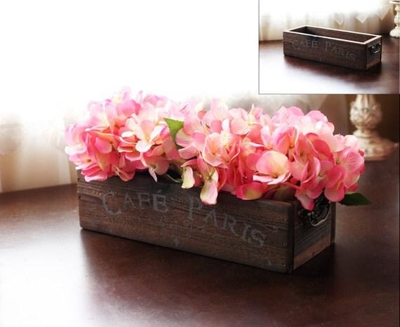 Rustic wooden box mail holder mason jar centerpiece candle