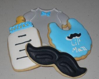 Lil' Man Baby Sugar Cookies - 1 Dozen Cookies