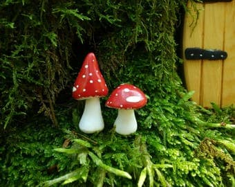 Toadstools for fairy garden or terrarium