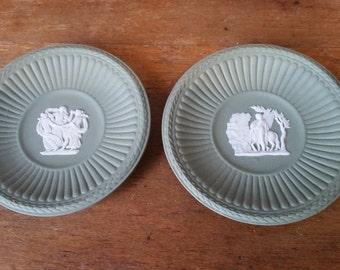 Medallions Wedgwood Sage Green Jasperware Pegasus Three Graces Classical Vintage