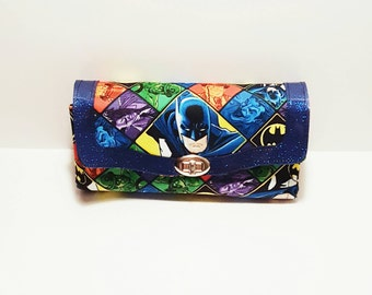 Argyle Batman Wallet - DC Comics Necessary Clutch Wallet - Batman Wallet - Villians Wallet - Fabric Wallet