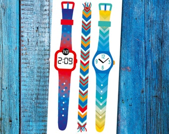 Temporary Tattoos - The Blue watches