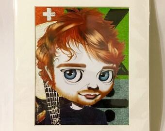 "Ed Sheeran 11x14"" Art Print by deShan"