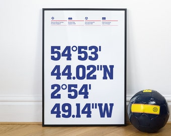 Carlisle United Football Stadium Coordinates Posters