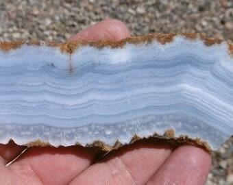 Blue Lace Agate Slab (100X35X8)