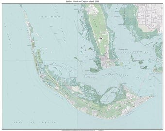 Charlotte Harbor To Estero Bay Florida Old Topo Map A - Topographical map of florida