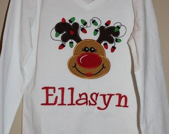 Girl Rudolph Shirt for Infant, Toddler, and Youth