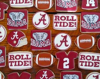 Alabama Crimson Tide Cookies