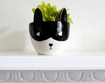 Superhero Plant Pot - Small Plant pot - Ceramic Plant Pot - Succulent Pot - Plant Pot for Nursery - Fox Planter