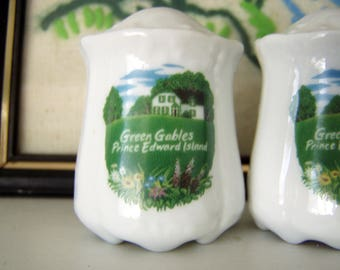 Green Gables Souvenir Salt and Pepper Shakers, Prince Edward Island, Featuring White House and Green Fields