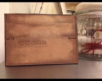 Portafoglio, wallet, handmade in genuine leather, vera pelle, ,nuanced