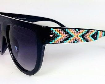 SALE Beaded Sunglasses Turquoise Celine