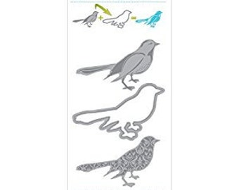 "3 Pc BIRD DIE by MOMENTA Cut & Emboss - 19799 pk size 3.5"" x 8.75"" Compatible with Sizzix Cuttlebug Spellbinders-  1.cc53"