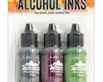 Alcohol Ink SLATE/CURRANT/MEADOW Tim Holtz TIM20714 Cottage Path - cc03