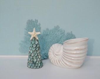 Beach Decor, Shell Tree, Beach Christmas Tree, Seashell Christmas, Nautical Christmas Decor, Coastal Christmas Decor, Limpet Ornament