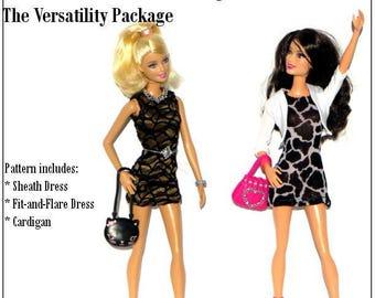 Pixie Faire Karen Lorraine Design The Versatility Package Doll Clothes Pattern for 11-1/2 inch Fashion Dolls - PDF