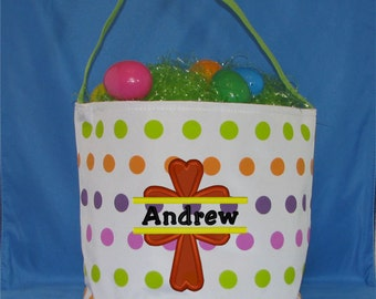 Personalized Easter Basket, Easter Bucket, Boys Easter Basket, Monogrammed Easter Basket, Easter Tote, Easter Bag, Religious Basket, Kids